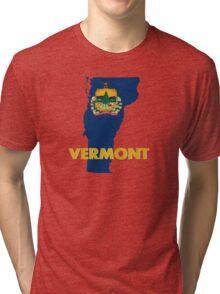VERMONT STATE FLAG Tri-blend T-Shirt