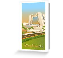 Monorail at Contemporary Greeting Card