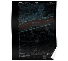 USGS Topo Map Washington Golgotha Butte 20110912 TM Inverted Poster
