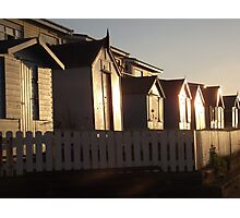 Beach Huts Westward Ho! Photographic Print