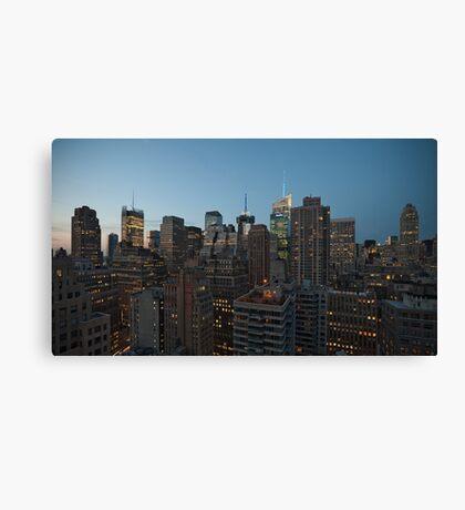 Manhattan in motion - uptown Canvas Print