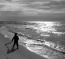 A Winter Walk on Grayton Beach by Judy Wanamaker