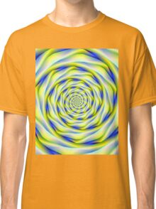 Vortex in Blue and Yellow Classic T-Shirt