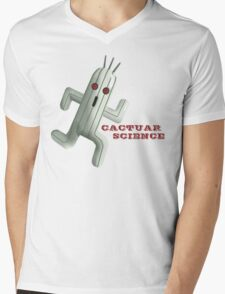 Cactuar Science Mens V-Neck T-Shirt