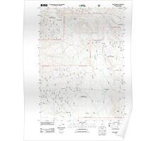 USGS Topo Map Oregon Dry Prairie 20110719 TM Poster