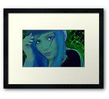 Sweet Smile of Blue Framed Print
