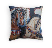 Carousel Ride Throw Pillow