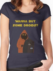 Wanna buy some droids? Women's Fitted Scoop T-Shirt
