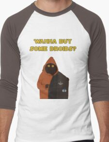 Wanna buy some droids? Men's Baseball ¾ T-Shirt
