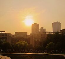 Sunset from the park, Changzhou (China) by Chris Millar