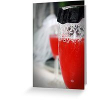 Wine Glass Wedding Greeting Card