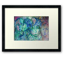 Heart's Desert Framed Print