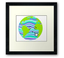 Planet Earth feeling Exhausted  Framed Print