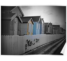 Beach Huts Westward Ho! Poster
