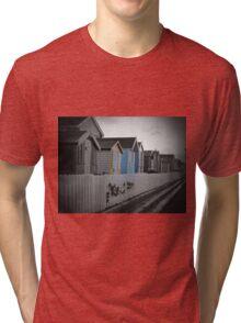 Beach Huts Westward Ho! Tri-blend T-Shirt