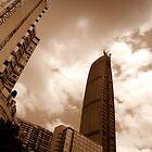 Kingkey 100 from below, Shenzhen, China by Chris Millar
