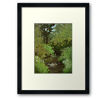 Creek at North Bank Habitat Mgmt Framed Print