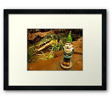 Sam and the Gator Framed Print