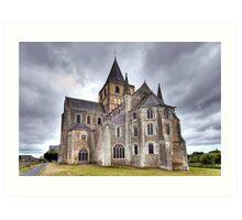 Church of Saint-Vigor de Cerisy-la-Forêt Art Print