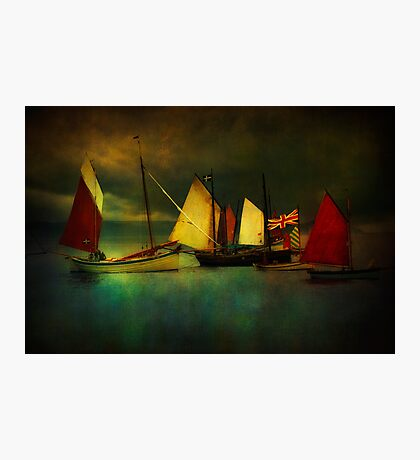 Cornish Sailers Photographic Print