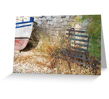 harbour bench Greeting Card