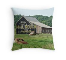 Old Shed Mail Pouch Tobacco Throw Pillow