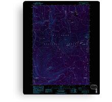 USGS Topo Map Oregon Pinhead Buttes 281100 1986 24000 Inverted Canvas Print