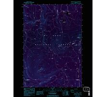 USGS Topo Map Oregon Pinhead Buttes 281100 1986 24000 Inverted Photographic Print