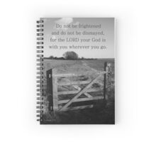 The Lord your God is with you - gateway Spiral Notebook