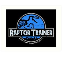 Jurassic World Raptor Trainer Art Print
