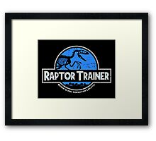 Jurassic World Raptor Trainer Framed Print