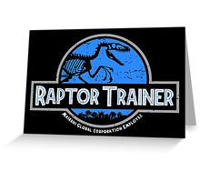 Raptor Trainer Greeting Card