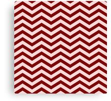 The Burgundy & Blush Chevron Canvas Print