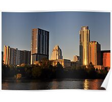 Downtown Austin, Texas at Sunset Poster
