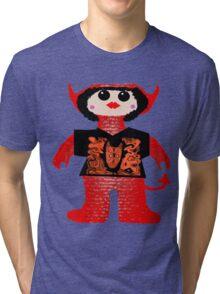 Little Devil In Disguise Rag Doll Tri-blend T-Shirt