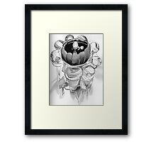 Candle in a Crystal Holder Framed Print