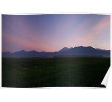 Alps at dawn Poster