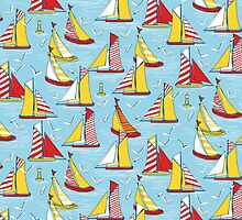 seagulls and sails by Sharon Turner