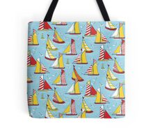seagulls and sails Tote Bag