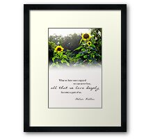 All That We Love Deeply Framed Print