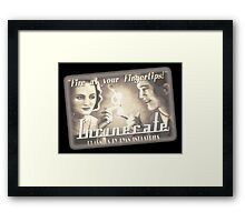 BioShock – Incinerate! Video Reel Ad Framed Print