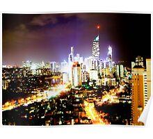 Gold Coast at Night Poster