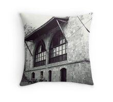 A stone  building ! Throw Pillow