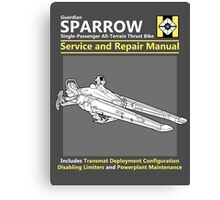 Sparrow Service and Repair Manual Canvas Print