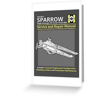 Sparrow Service and Repair Manual Greeting Card