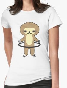 Hoop Sloth Womens Fitted T-Shirt