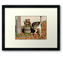 Look for Humor to Brighten Your Day Framed Print