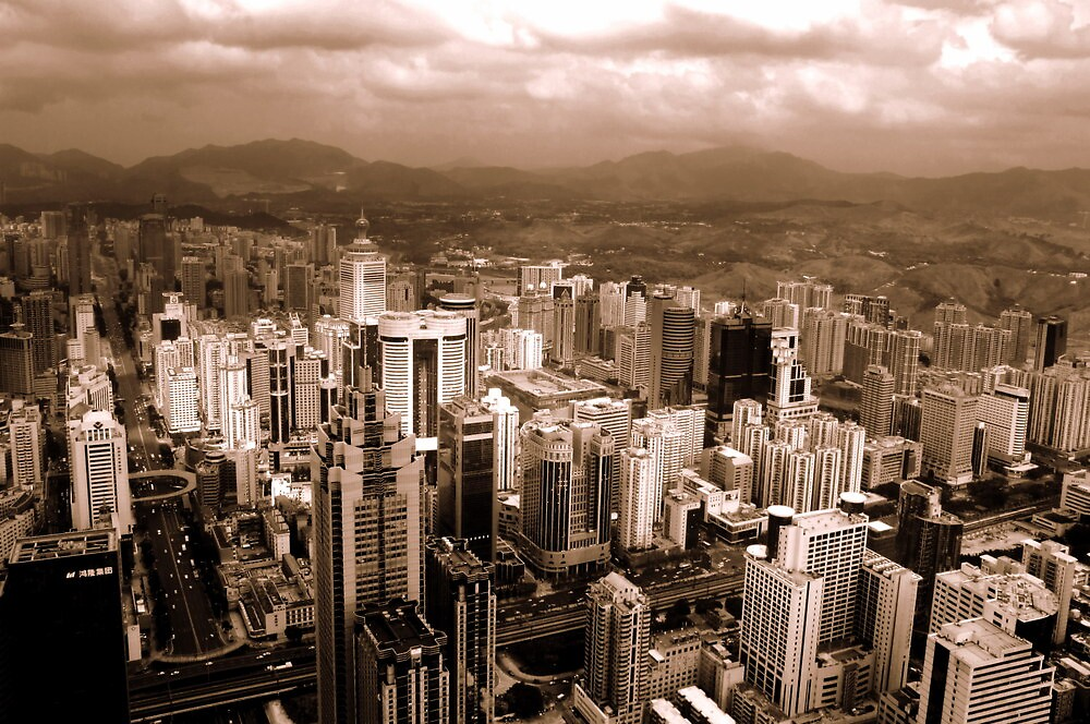 Shenzhen in monochrome, China by Chris Millar
