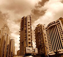 Downtown highrise apartments, Shenzhen, China by Chris Millar