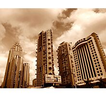 Downtown highrise apartments, Shenzhen, China Photographic Print